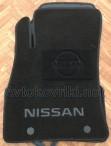 Коврики в салон текстильные для Nissan Juke 2010- черные ML Lux 2 клипсы