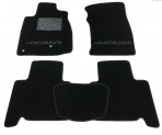 CMM Коврики в салон текстильные для Toyota Land Cruiser Prado (120) 2002-2009 черные ML Lux