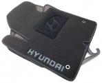 Коврики в салон текстильные для Hyundai Santa Fe (DM) 2013- (5 мест) черные ML Lux