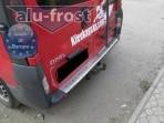 Накладка на бампер с загибом для Opel Vivaro 2002-
