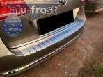 Накладка на бампер с загибом для Volkswagen Passat B7 Variant 2011-