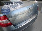 Alufrost Накладка на бампер с загибом для Skoda Rapid 2013-