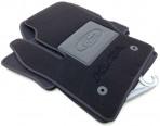 Ворсовые коврики Ford Kuga 2013- черные Milan 2 клипсы