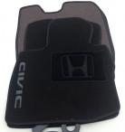 CMM Коврики в салон текстильные для Honda Civic 5D Hatchback 2006-2012 черные ML Lux