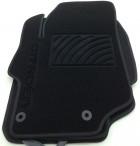 Ворсовые коврики Citroen C-Elysee 2013- черные Milan 2 клипсы