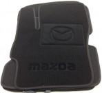 Ворсовые коврики Mazda 3 2003-2009 черные Milan
