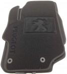 Ворсовые коврики Peugeot 301 2013- черные Milan 2 клипсы