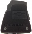 Ворсовые коврики Chevrolet Cruze 2009- черные Milan 4 клипсы
