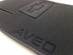 Купить ворсовые коврики Шевроле Авео 2003-2012 черные Milan