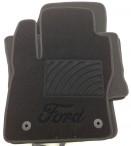 Ворсовые коврики Ford Kuga 2008-2013 черные Milan 2 клипсы