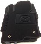 Ворсовые коврики Mazda CX-5 2012- черные Milan