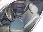 Чехлы из ЭКОкожи для BMW 5 (E34) 1988-1996 серая строчка (полноценный задний подлокотник)