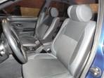 Чехлы из ЭКОкожи для BMW 5 (E39) 1996-2003 серая строчка (раздельная спинка)