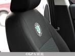 Автомобильные чехлы Skoda Fabia Hatchback 2007- цельная спинка