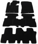 Ворсовые коврики Kia Sorento 2013- (7 мест) черные Milan