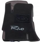 Коврики в салон текстильные для Kia Rio 2005-2011 черные ML Lux
