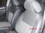 Чехлы из ЭКОкожи для Chevrolet Aveo Sedan 2012- серая строчка