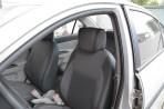 Чехлы из ЭКОкожи для Hyundai Accent 2006-2010 серая строчка
