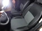Чехлы из ЭКОкожи для Renault Duster 2010- (цельная спинка) серая строчка