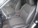 Чехлы из ЭКОкожи для Toyota RAV4 2006-2012 серая строчка