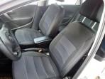 Чехлы из ЭКОкожи для Volkswagen Polo Sedan 2010- (раздельная спинка) серая строчка
