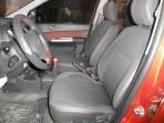 Авточехлы для Hyundai Getz 2002-2011 (раздельная спинка) красная строчка