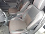 Авточехлы для Renault Megane III Hatchback 2009- (цельная спинка) красная строчка