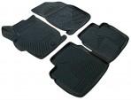 3D коврики в салон для Citroen C-Elysee 2013- черные