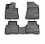3D коврики в салон для Kia Sorento 2013- черные