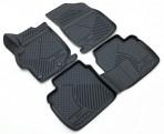 Novline 3D коврики в салон для Peugeot 301 2013- черные