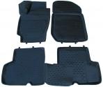 Novline 3D коврики в салон для Renault Logan Sedan 2004-2013 черные