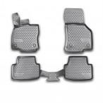 3D коврики в салон для Skoda Octavia A7 2013- черные