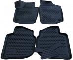 3D коврики в салон для Skoda Rapid 2013- черные