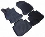 3D коврики в салон для Subaru Forester 4 2013- черные