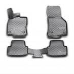 3D коврики в салон для Volkswagen Golf VII 2013- черные