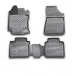 3D коврики в салон для Toyota Venza 2013- черные
