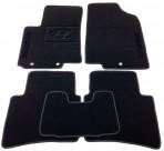 Ворсовые коврики Hyundai Accent (RB) 2011- черные Milan