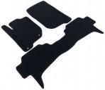Ворсовые коврики Mitsubishi Pajero Sport II 2008- черные Milan