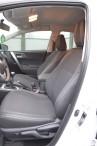 Чехлы из ЭКОкожи для Toyota Auris 2013- серая строчка