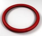 Avtokovriki Чехол на руль кожаный красный гладкий (размер L)