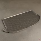 Коврик в багажник для Kia Soul 2008- (с полкой) полиуретановый