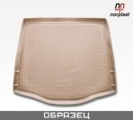 Коврик в багажник для Volkswagen Touareg 2010- (4-х зон. климат-контроль) полиуретановый бежевый