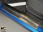 Nataniko Накладки на пороги Chevrolet Aveo 2003-2012 hb/sd