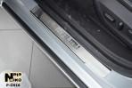 Nataniko Накладки на пороги Chevrolet Malibu 2012-