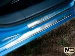 Накладки на пороги Citroen C3 Picasso 2009-