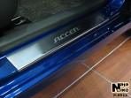 Nataniko Накладки на пороги Hyundai Accent 2011- (RB)