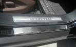 Накладки на пороги Infiniti EX 2007-