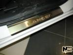 Nataniko Накладки на пороги Mitsubishi Lancer X 2007-