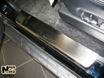 Nataniko Накладки на пороги Mitsubishi Pajero IV 2007-