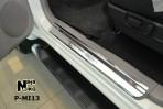 Nataniko Накладки на пороги Mitsubishi Pajero Sport II 2008-